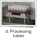 <strong>6. Processing tubes</strong><br />fill-it is compatible with a range of tubes from leading manufacturers – Corning, Greiner, Matrix, Micronic, Nalgene, Nunc and Sarstedt. fill-it automatically decaps the rack of tubes, dispenses the cell cultures or other liquids into the tubes at the required volume and then recaps at the correct torque – all in under two minutes.