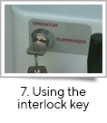 <strong>7. Using the interlock key</strong><br />The GMP version of fill-it includes a key interlock to disable specific functions. Two modes of operation are available: Supervisor mode – where all the function and set-up parameters are available. Operator mode – where only a subset of the functions are available and the set-up parameters are disabled.