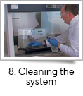 <strong>8. Cleaning the system</strong><br />fill-it is an easy to use system requiring minimal set up and set down. All surfaces can be cleaned using standard laboratory cleaning solution to maintain sterility between processing runs.