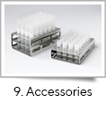 <strong>9. Accessories</strong><br />A range of accessories is available for fill-it, including:<br /> 24-way tube rack, 48-way tube rack, Tube set in sterile bag, <br />Sterile source containers and GMP priming dish.